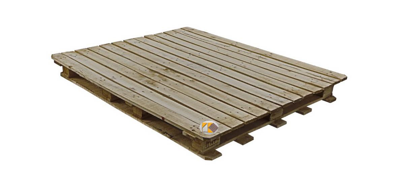 پالت چوبی مهرلبه دار 110x130x15