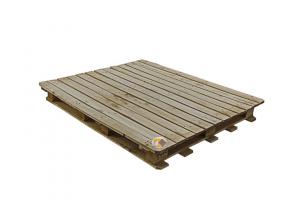 پالت چوبی مهر لبه دار
